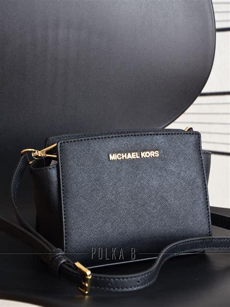 Ready Stock New Arrival Michael Kors Crossbody Ghw Summer 2017 michael kors selma mini saffiano leather messenger black