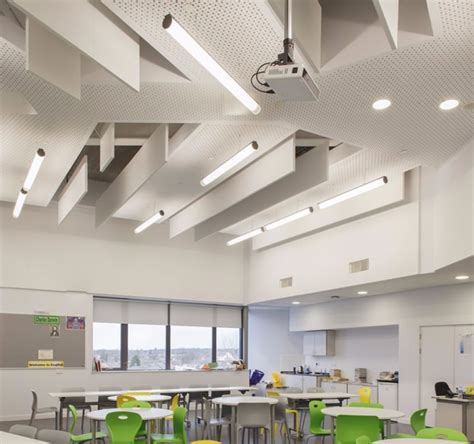 ceiling acoustic baffles using suspended panels for sound