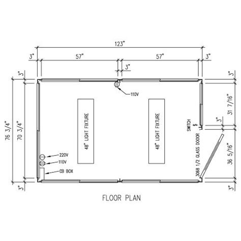 security guard house floor plan portafab 6 x 10 security guardhouse ticket booths