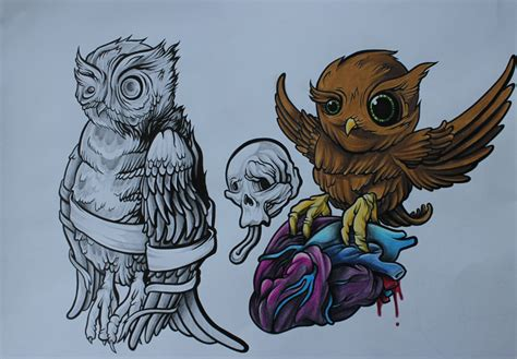 new school tattoo flash art image gallery new school tattoo flash