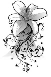 black and white lily tattoos designs cool tattoos designs
