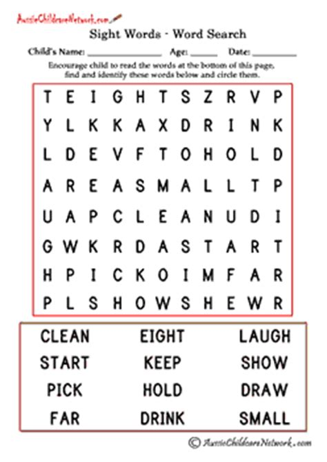 printable word search grade 3 third grade sight word search aussie childcare network