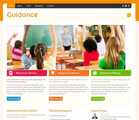 16 best education school responsive mobile web templates