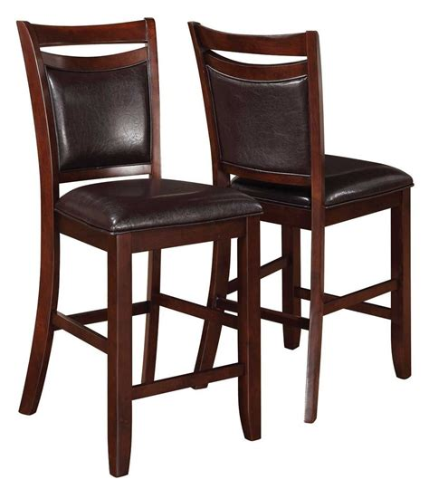 dupree counter height bench 105477 dupree counter height chair set of 2 from coaster 105479