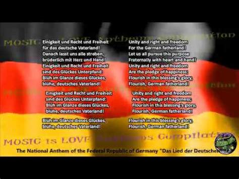 national anthem germany germany national anthem with music vocal and lyrics