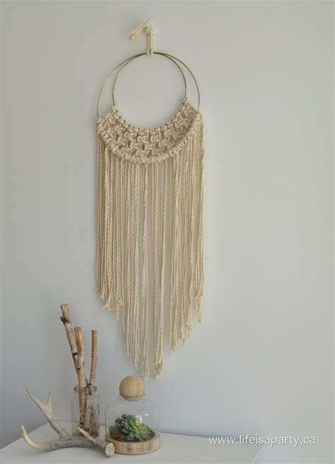 Diy Macrame Wall Hanging - diy macrame and fringe pillows