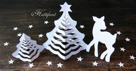 Hattifant S 3d Paper Christmas Trees Hattifant Paper Tree Template
