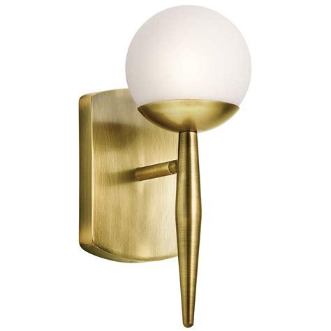 Kichler 45580nbr Jasper Modern Natural Brass Halogen Wall Kichler Lighting Fixtures