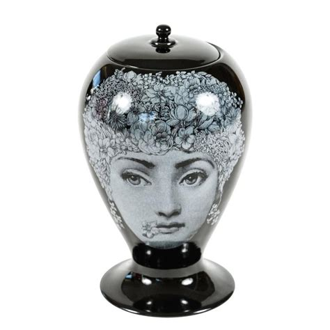 fornasetti vase stunning vase with lid by fornasetti by bitossi at 1stdibs