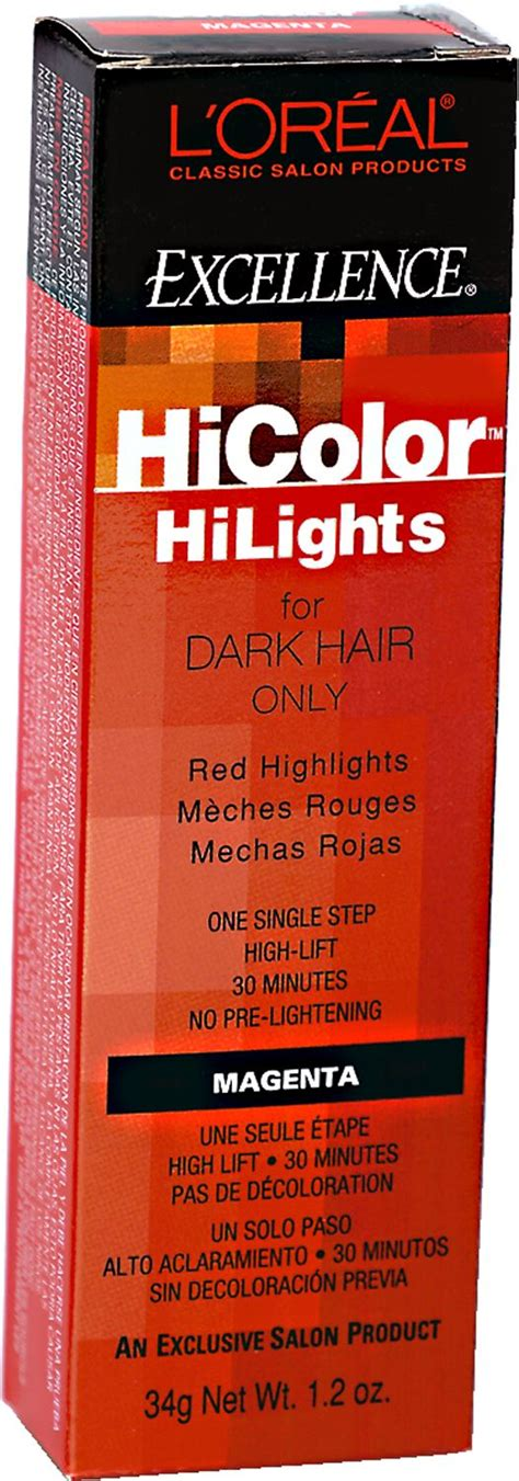 L Oreal Pre Lightener hicolor hilights magenta permanent creme hair color