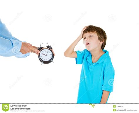 Time To Go To Bed by Showing Kid Clock That It Is Time To Go To Bed He