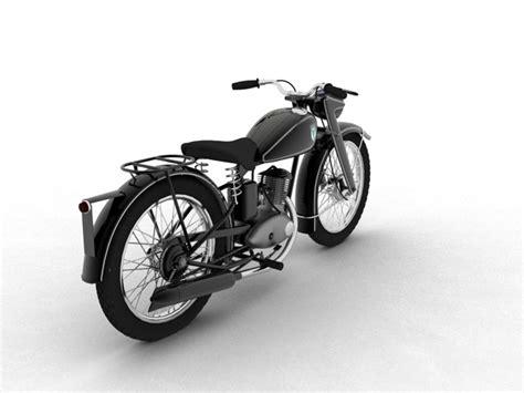 Dkw Motorrad Modelle by Dkw Rt125 1950 3d Model Buy Dkw Rt125 1950 3d Model