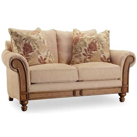 upholstered sofas and loveseats hooker furniture windward upholstered loveseat in dark