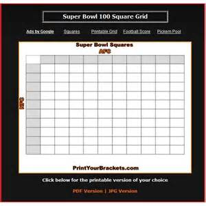 superbowl squares template blank bowl squares template images
