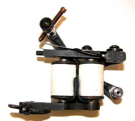 tattoo machine custom handmade machine black white 34 shader