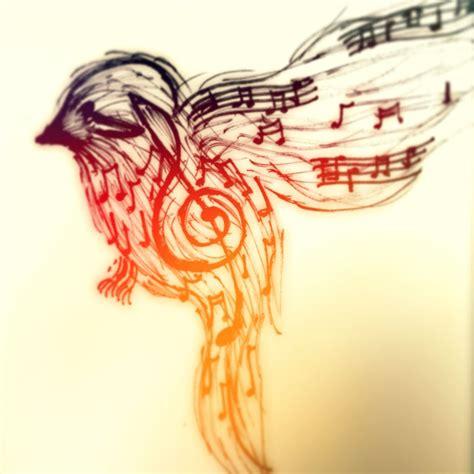 bird music notes tattoo designs note finch