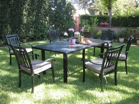 Cast Aluminum Patio Dining Sets Sale Patio Sets Clearance Cbm Outdoor Cast Aluminum Patio Furniture 7 Dining Set A Cbm1290 Sale