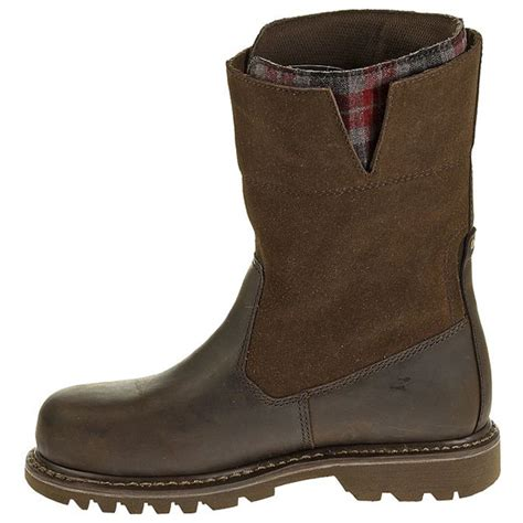 womans steel toe boots cat womens steel toe wellington work boot p90391