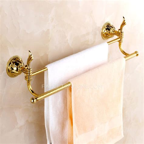 decorative bathroom towel bars decorative brass golden towel bars two bars