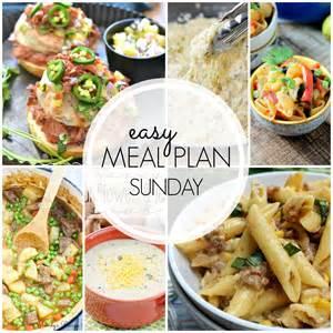 easy meal plan sunday 40 mandy s recipe box
