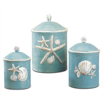 beach themed kitchen canisters canisters shells and canister sets on pinterest