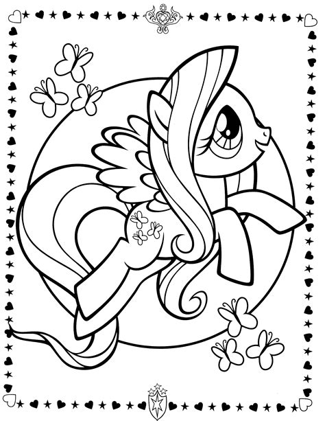 My Little Pony Colouring Sheets Fluttershy My Little My Pony Friendship Is Magic Coloring Pages To Print