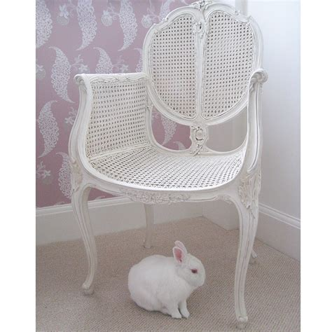 Provencal rattan white french chair french bedroom company