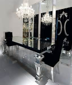 Mirrored Dining Room Tables Black Mirrored Dining Room Table Designs I Like