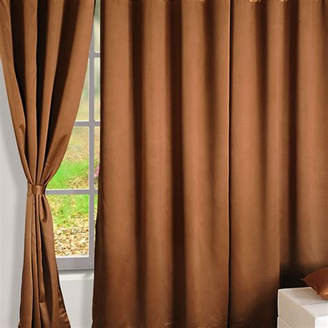 Brown Blackout Curtains Buy Brown Gold Blackout Curtains Plain Readymade Eyelet Curtains Swayam