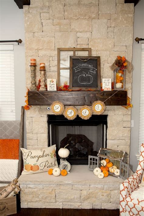 rustic fireplace decor 14 cozy fall fireplace decor ideas to right now