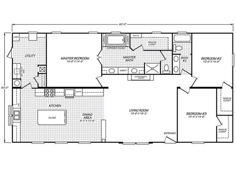 fleetwood mobile home floor plans canyon lake 32603g fleetwood homes 1800 sq ft home plan