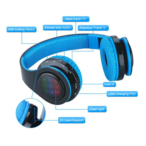 3 5mm Stereo Headphone Green Intl excelvan sound intone folding wireless bluetooth headset