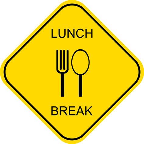 on break sign for desk lunch break images clipart panda free clipart images