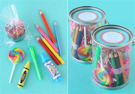 Giveaways For Birthday Party - art supply party favors counting candles