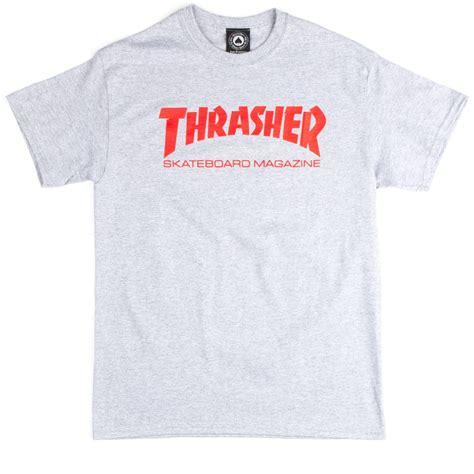 Kaosbajut Shirt Thrasher 1 thrasher skate mag t shirt grey