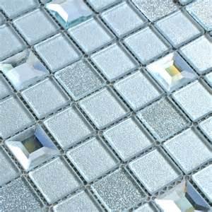 wholesale grey crystal glass mosaic tiles washroom
