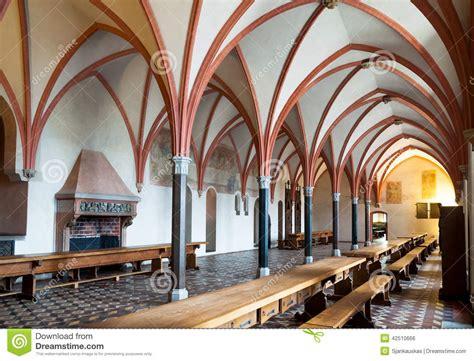 Historic Floor Plans malbork castle dining hall interior stock photo image