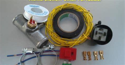 Switch Kipas Radiator thermo fan switch modif dudukan switch fan kipas radiator mobil charade