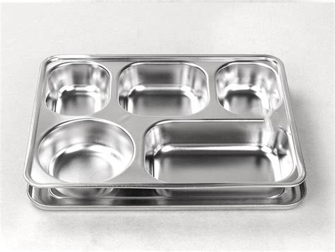 stainless sections lihong factory 5 sections stainless steel lunch box dinner