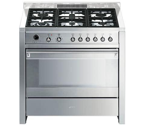 smeg appliances buy smeg opera 90 dual fuel range cooker stainless steel