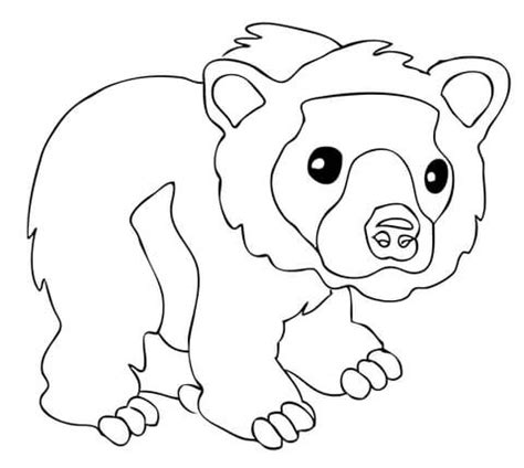 cute bear coloring pages brown bear coloring