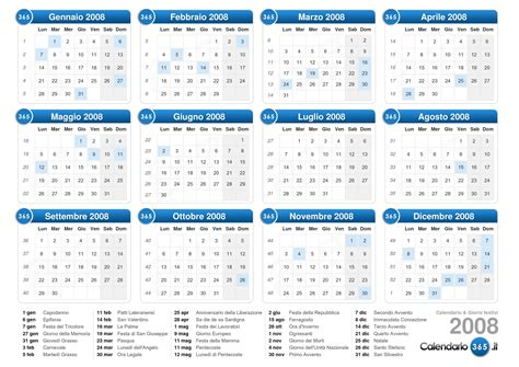 Calendario Giorni Festivi Canton Ticino Calendario 2008