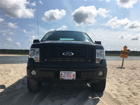 led light bar behind grill f150 led light bar to fit behind grill on 2014 stx sport