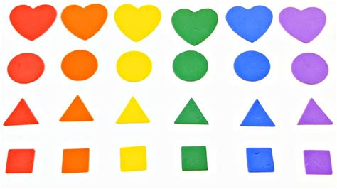 rainbow colors and shapes for children learning with