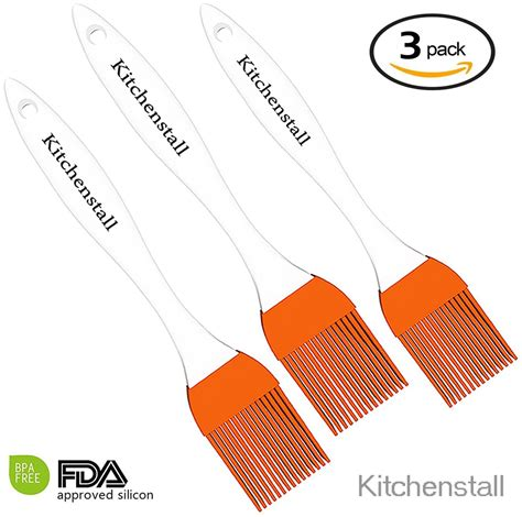 bake and baste how to stain and finish a rustic kitchen 1 silicone basting pastry brush orange great for