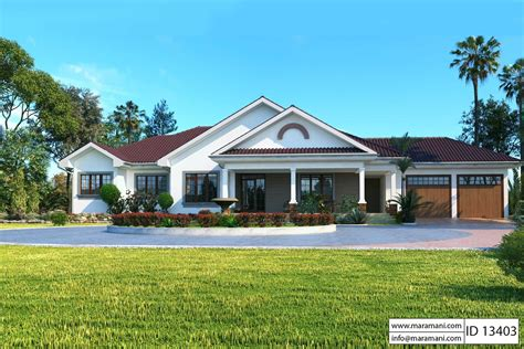 Three Bedroom House Id 13204 3 Bedroom Bungalow With Garage Id 13403 House Plans By