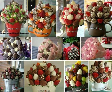 How To Make A Candy Vase Chocolate Covered Strawberries Bouquets Frutas Pinterest
