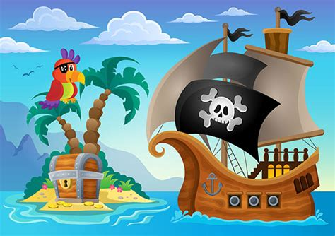 Adhesive Wall Mural pirate island cartoon pirate wall mural wallpaperink co uk