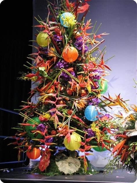 tropical christmas tree christmas decor pinterest
