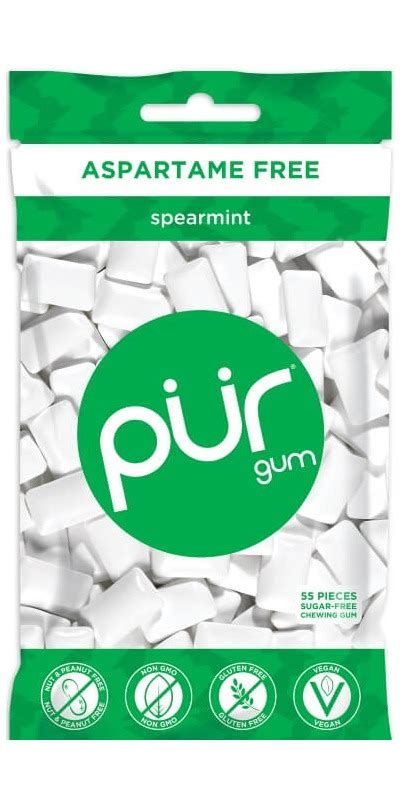 hacks for getting sugarfree gum off clothing buy pur sugar free spearmint gum bag at well ca free shipping 35 in canada